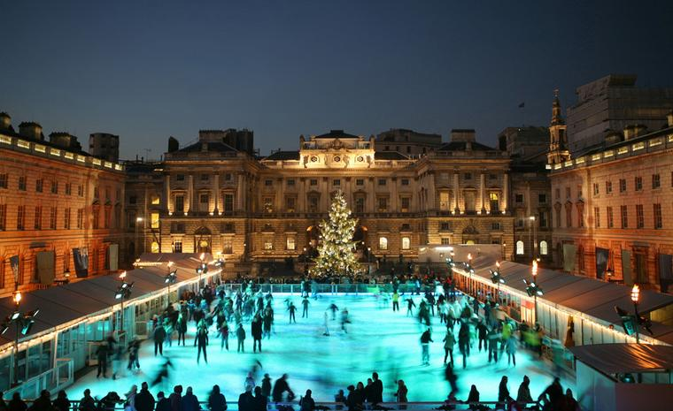 Somerset House Skate ice rink in London