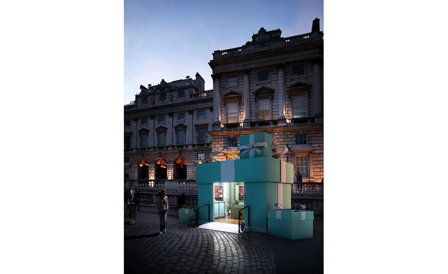 The Tuck Shop at Somerset House Skate is a massive Tiffany Blue Box