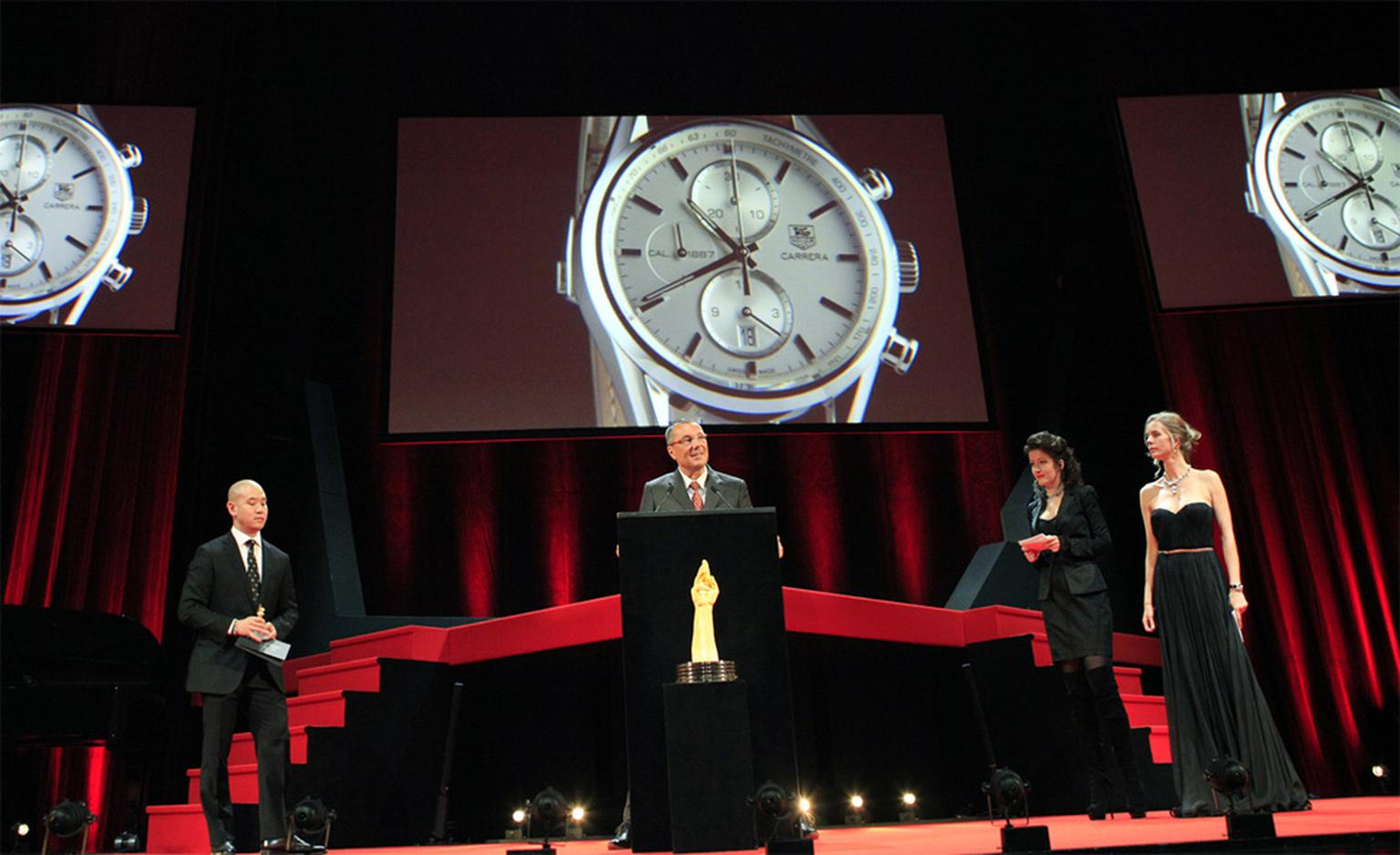 Jean-Christophe Babin, CEO of TAG Heuer speech at Gran Prix de l'Horlogerie 2010