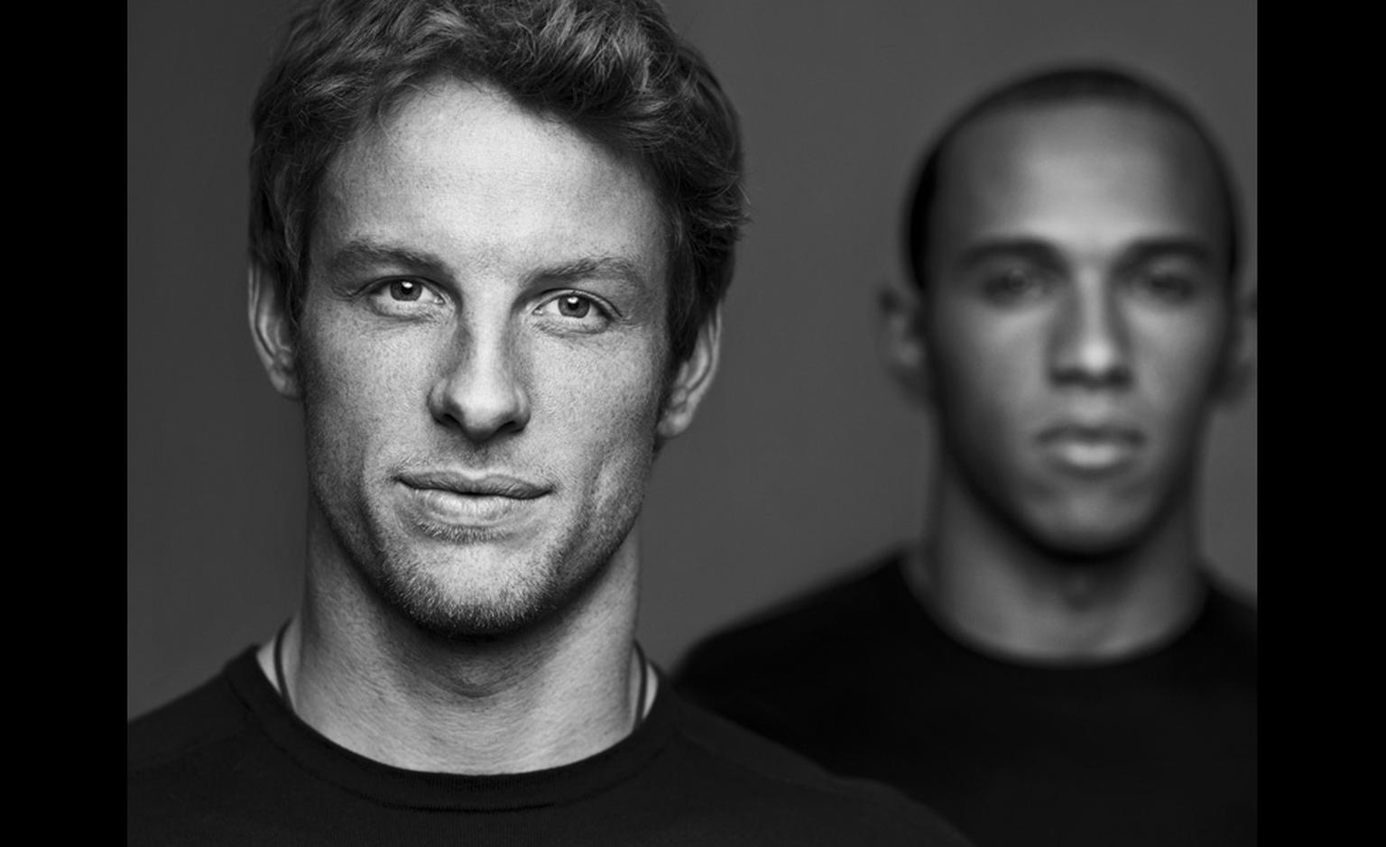 Lewis Hamilton and Jenson Button for TAG Heuer