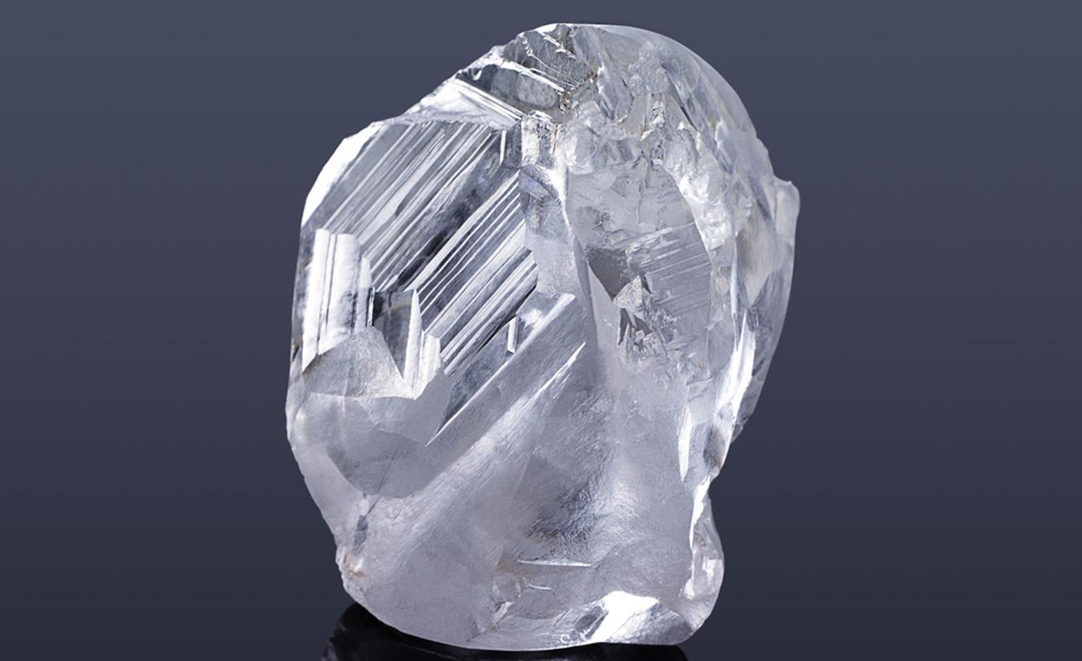Recently acquired by Laurence Graff, a rough diamond of 184-cts from the Letseng Mine in Lesotho