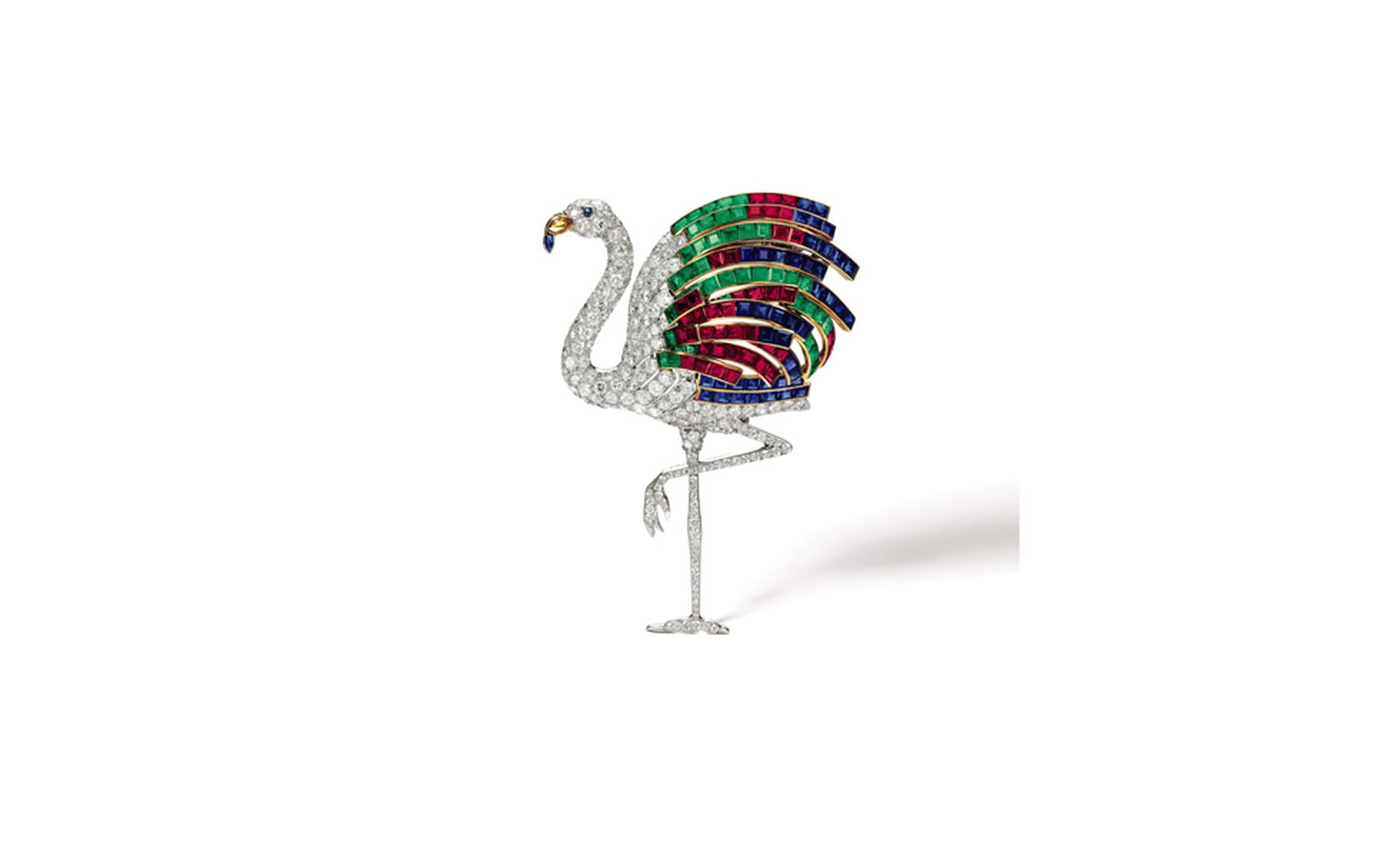 Sotheby's Lot 20 Cartier Flamingo clip sold for £1,721,250
