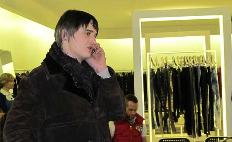 Peter Doherty at launch of Albion Trinketry jewellery at Joseph in Westbourne Grove, London