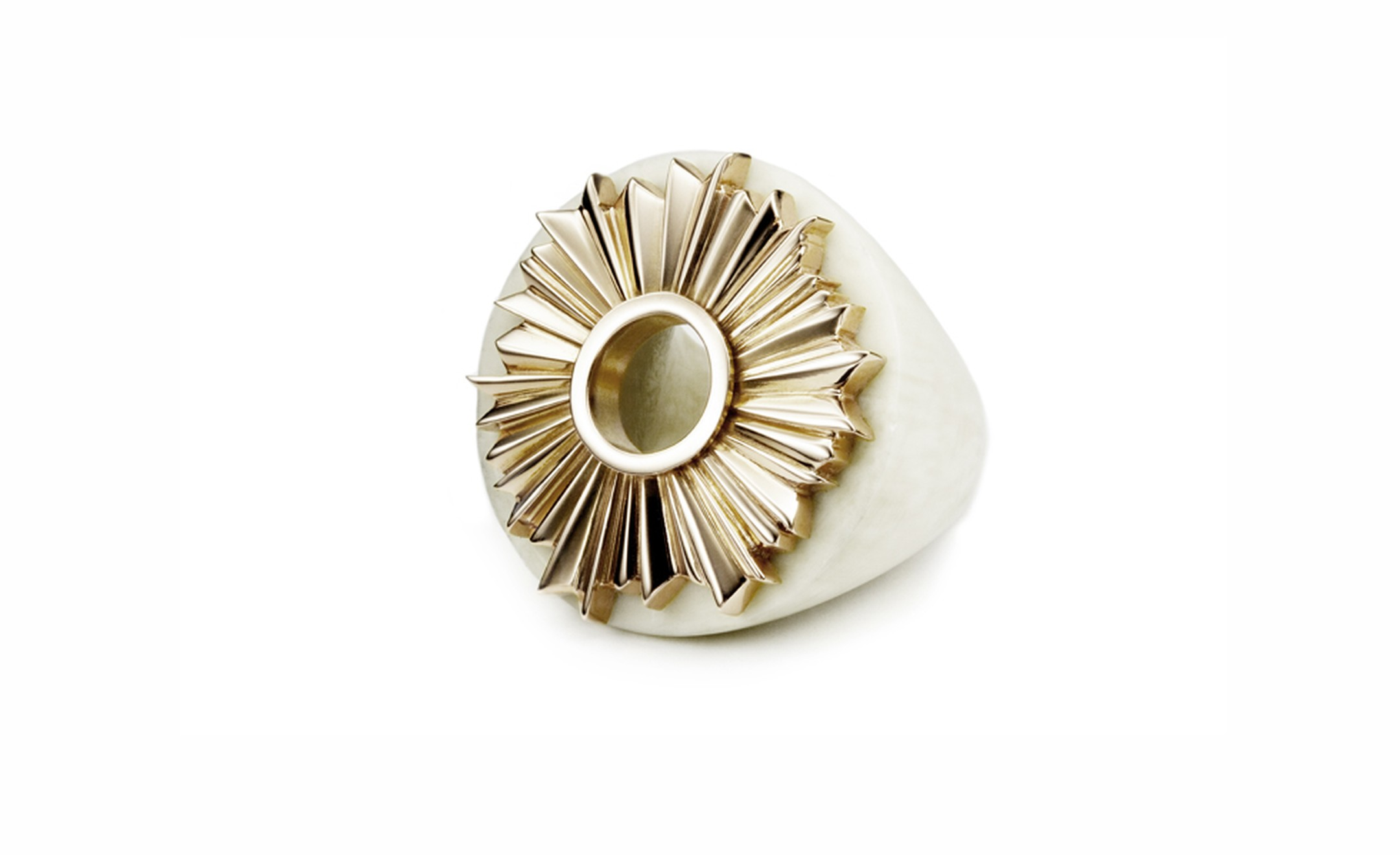 Albion Trinketry, Gold Bone Ring by Pete Doherty and Hannah Martin £3640