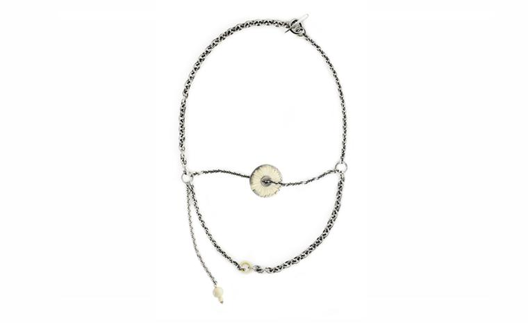 Albion Trinketry, Silver Chain Multi with mammoth tusk by Pete Doherty and Hannah Martin £1790