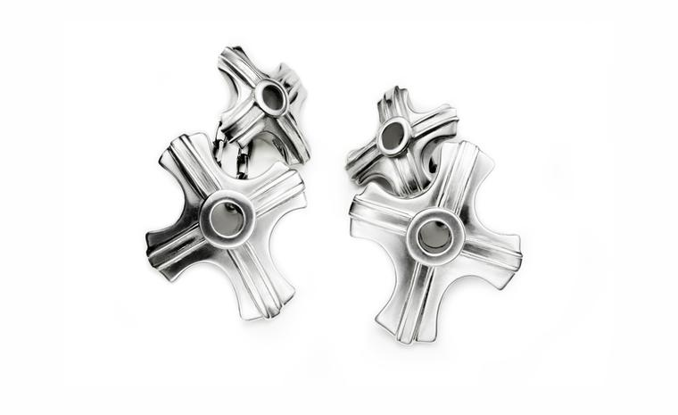 Albion Trinketry, Silver Cross Cuff Link by pete Doherty and Hannah Martin £425