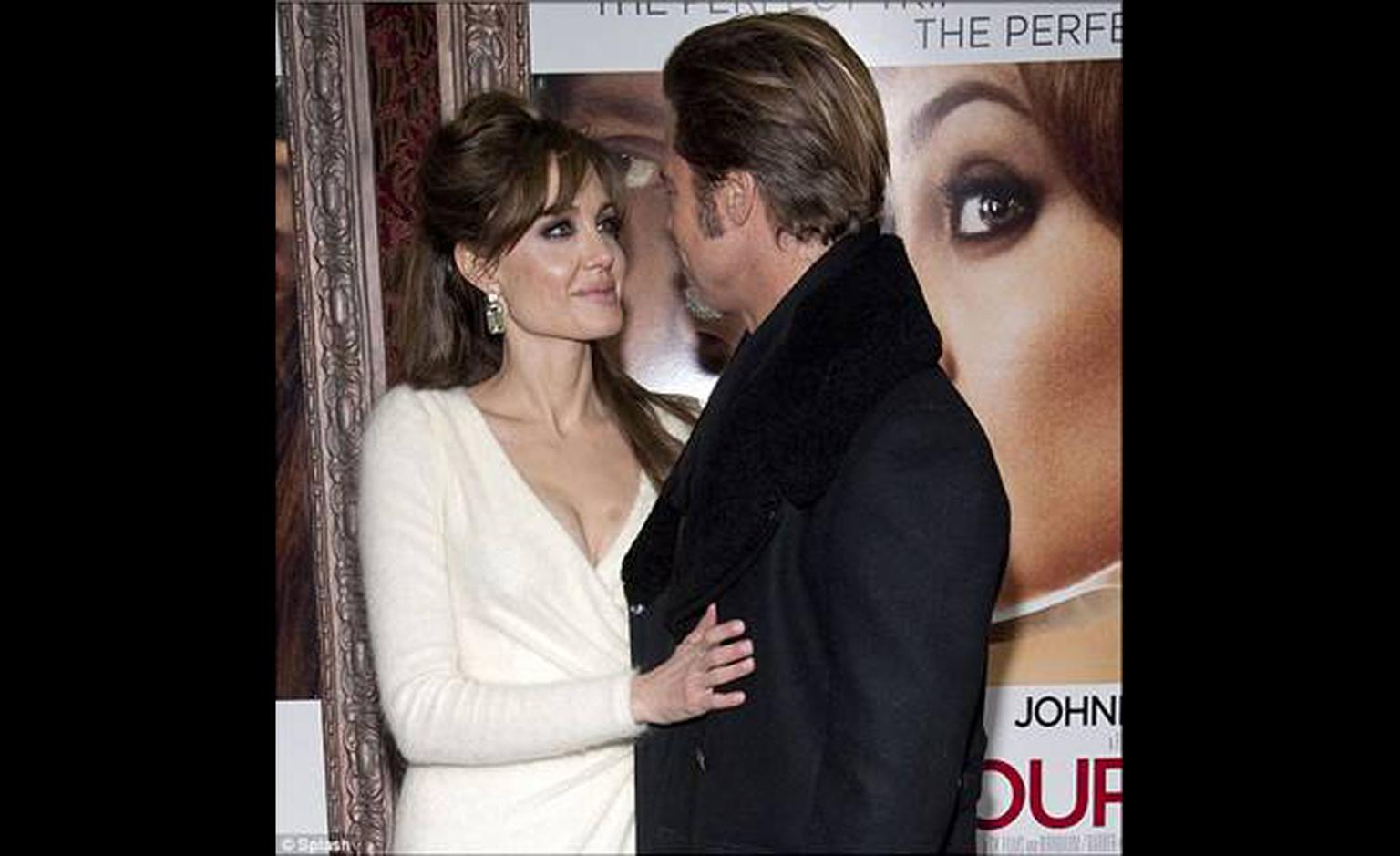 Angelina Jolie and Brad Pitt at launch of The Tourist