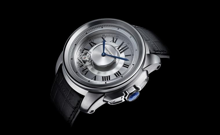 Calibre de Cartier Astrotourbillon with manual winding movement, made entirely in-house by Cartier. Photo Laziz Hamani Cartier 2010