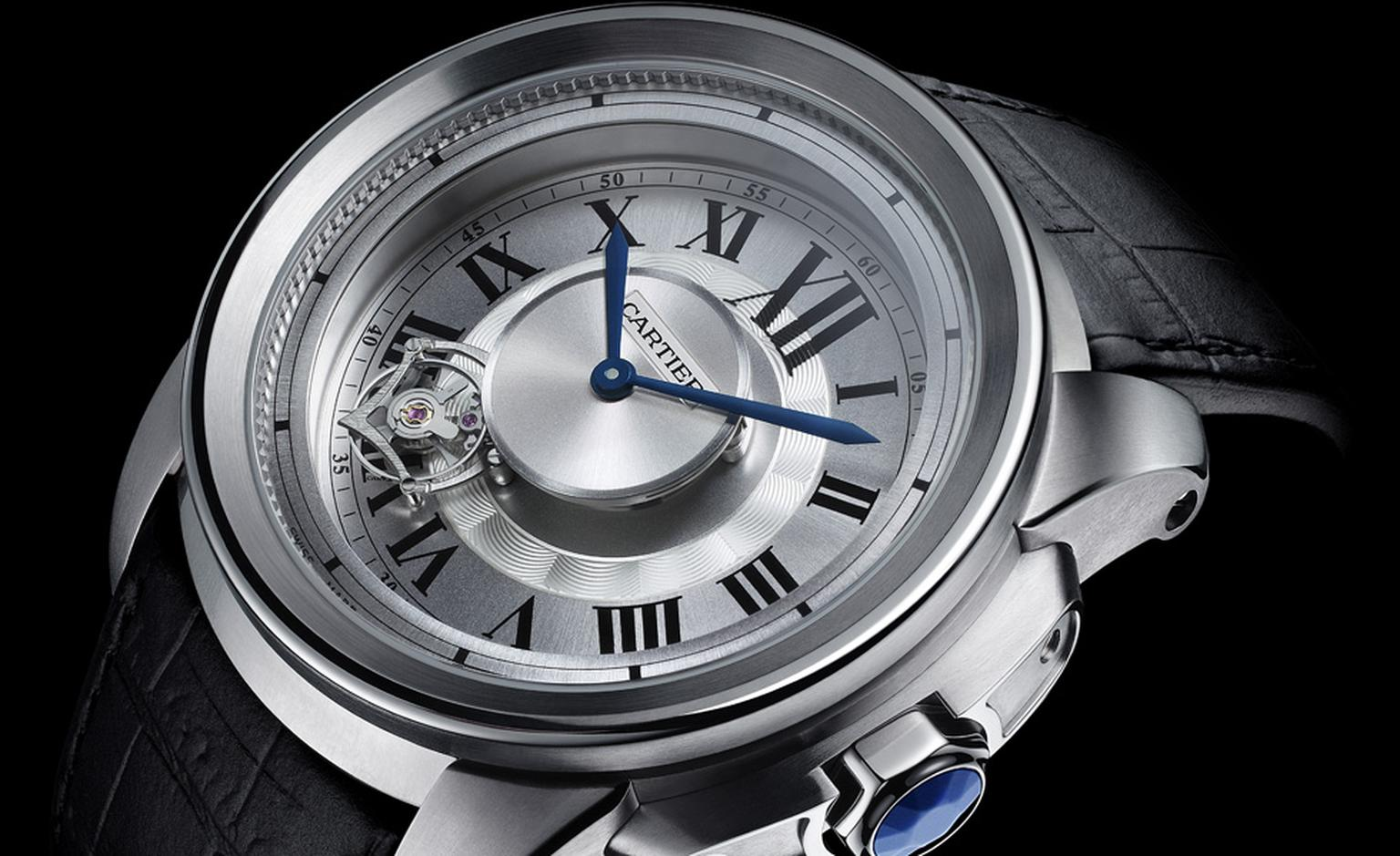 Cartier's Calibre Astrotourbillon that for 2010 comes in the sportier Calibre case shape made of light weight titanium photo Laziz Hamani Cartier 2010