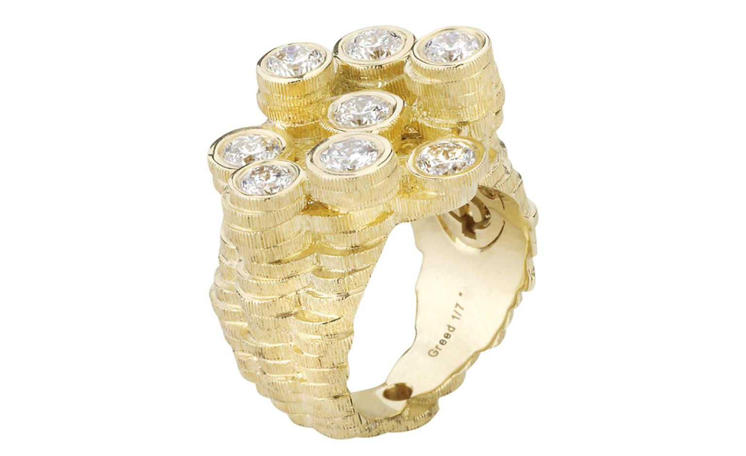 Stephen Webster Seven Deadly Sins Greed ring - I love the stacks of little coins