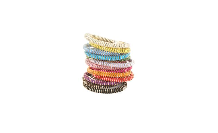 Carolina Bucci Twister bracelets in silver, £150 each