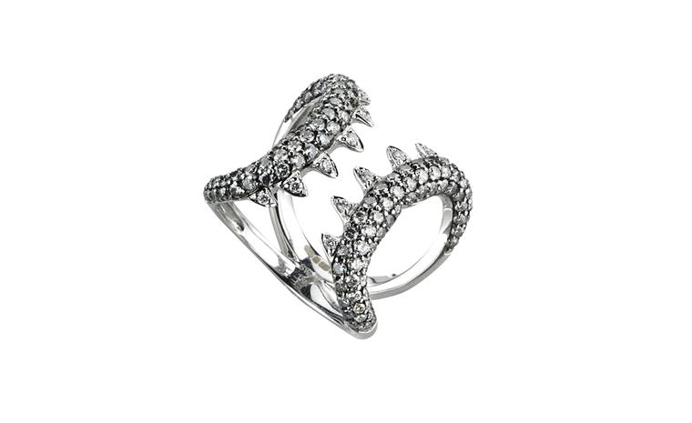 Stephen Webster, Jewels Verne Silver Diamond Jaws Ring