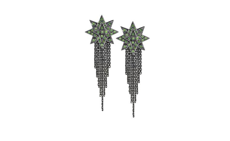 Ana de Costa, Sirius star tsavorite studs with chains £865