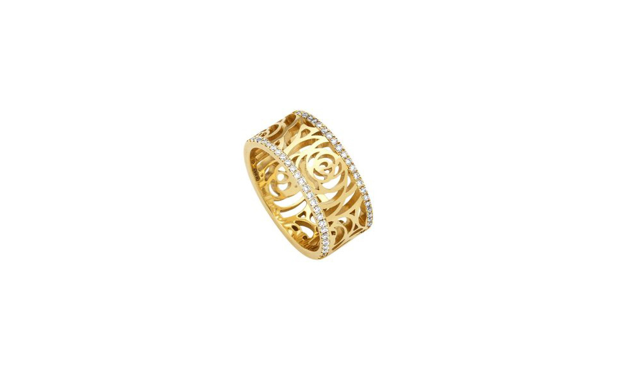 Chanel, Camélia gold ring with diamonds £2,920