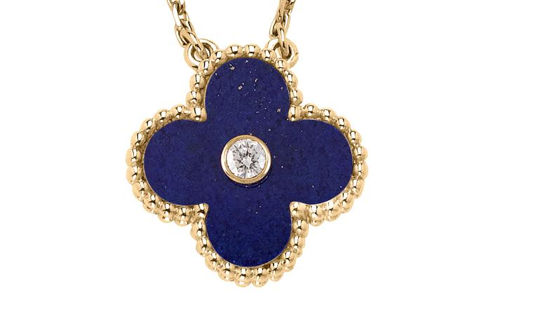 Van Cleef & Arpels, Limited Editon Vintage Alhambra Pendant, yellow gold, lapis lazuli and diamond £2,100