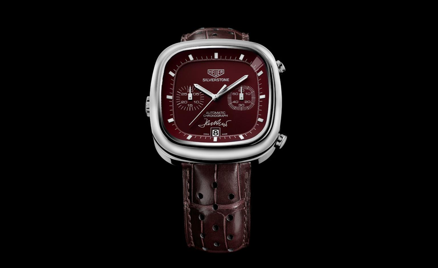 TAG Heuer Jack Heuer Silverstone Calibre 11 with a red dial made for the auction sold for £10,000