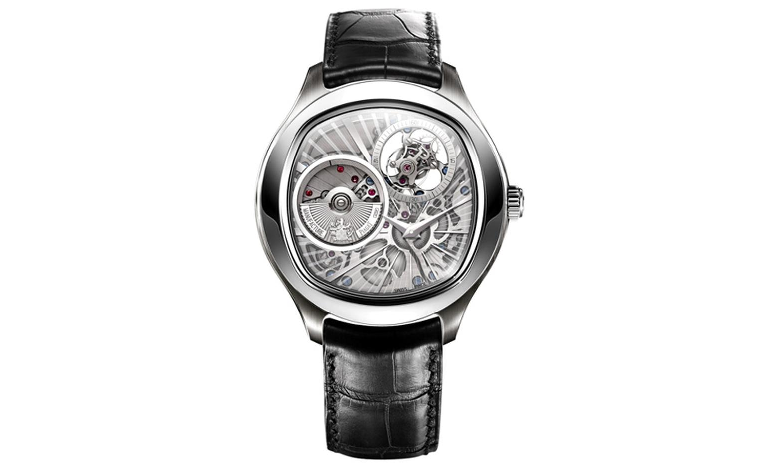 Piaget Emperador Coussin Automatic Ultra Thin Tourbillon is the thinnest tourbillon of its kind and is only 10.4 mm high