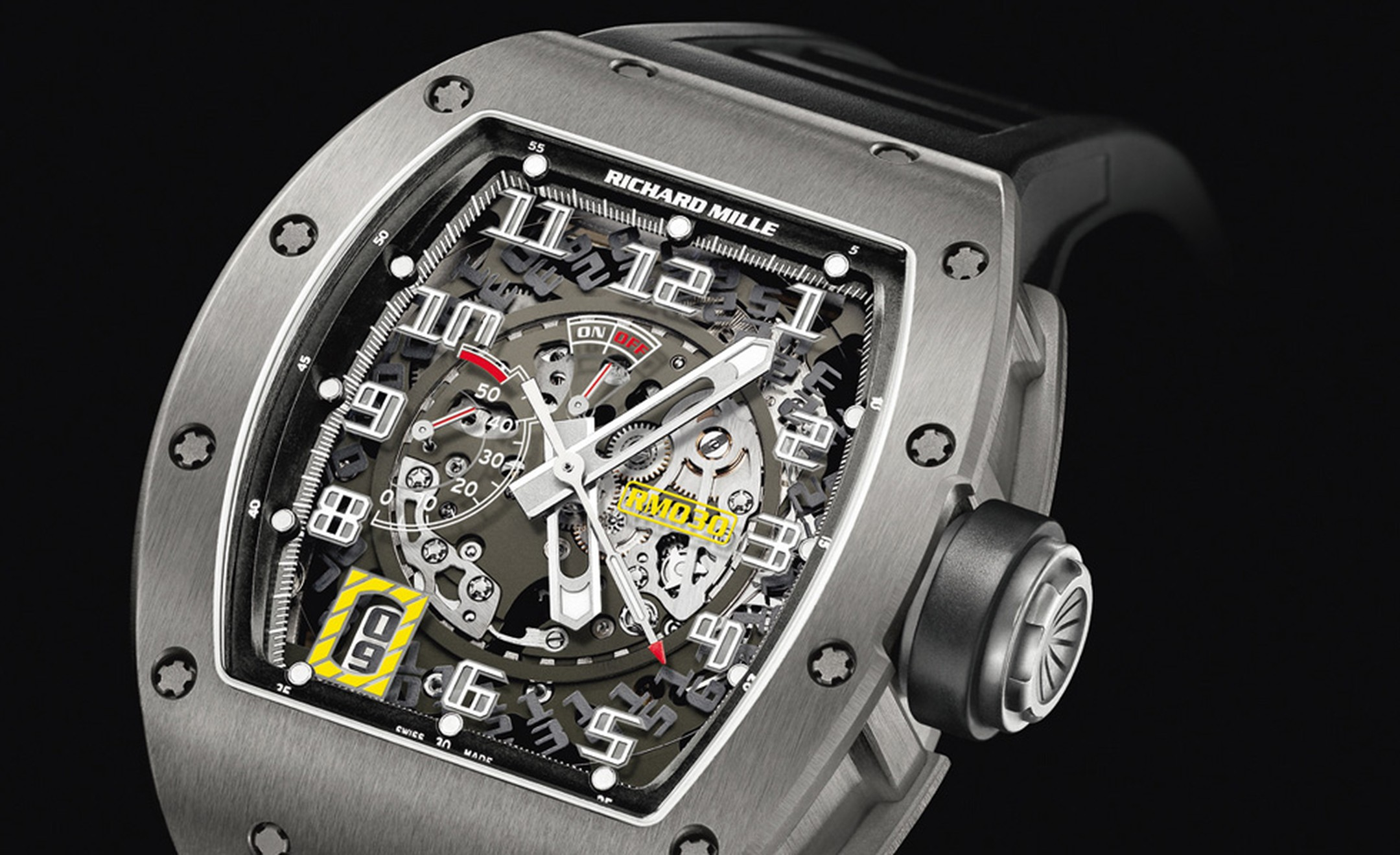 Richard Mille RM030 with declutchable rotor that prevents the watch overwinding