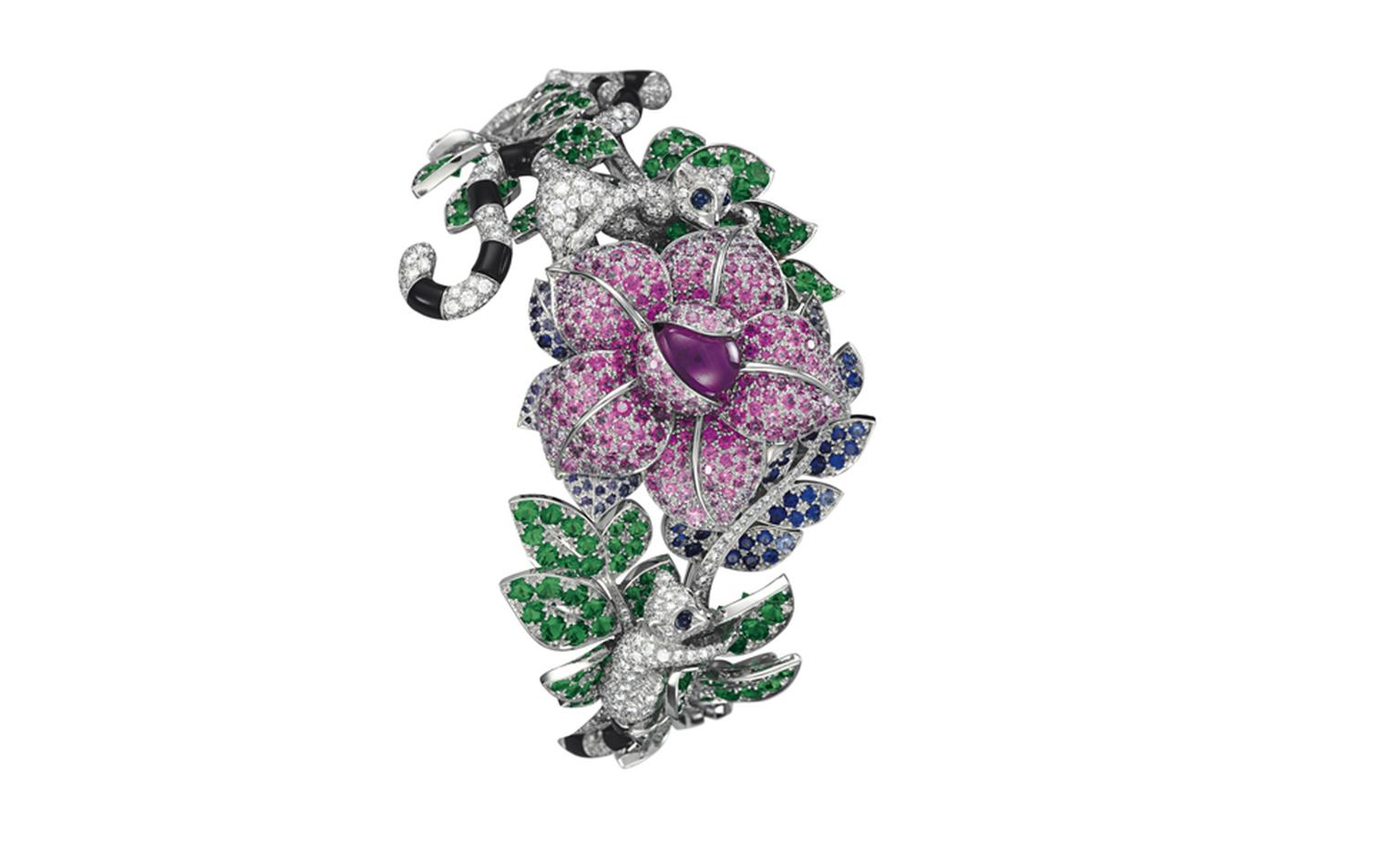 Van Cleef & Arpels Les Voyages Extraordinaires High Jewellery Timepieces Decor Makis, closed