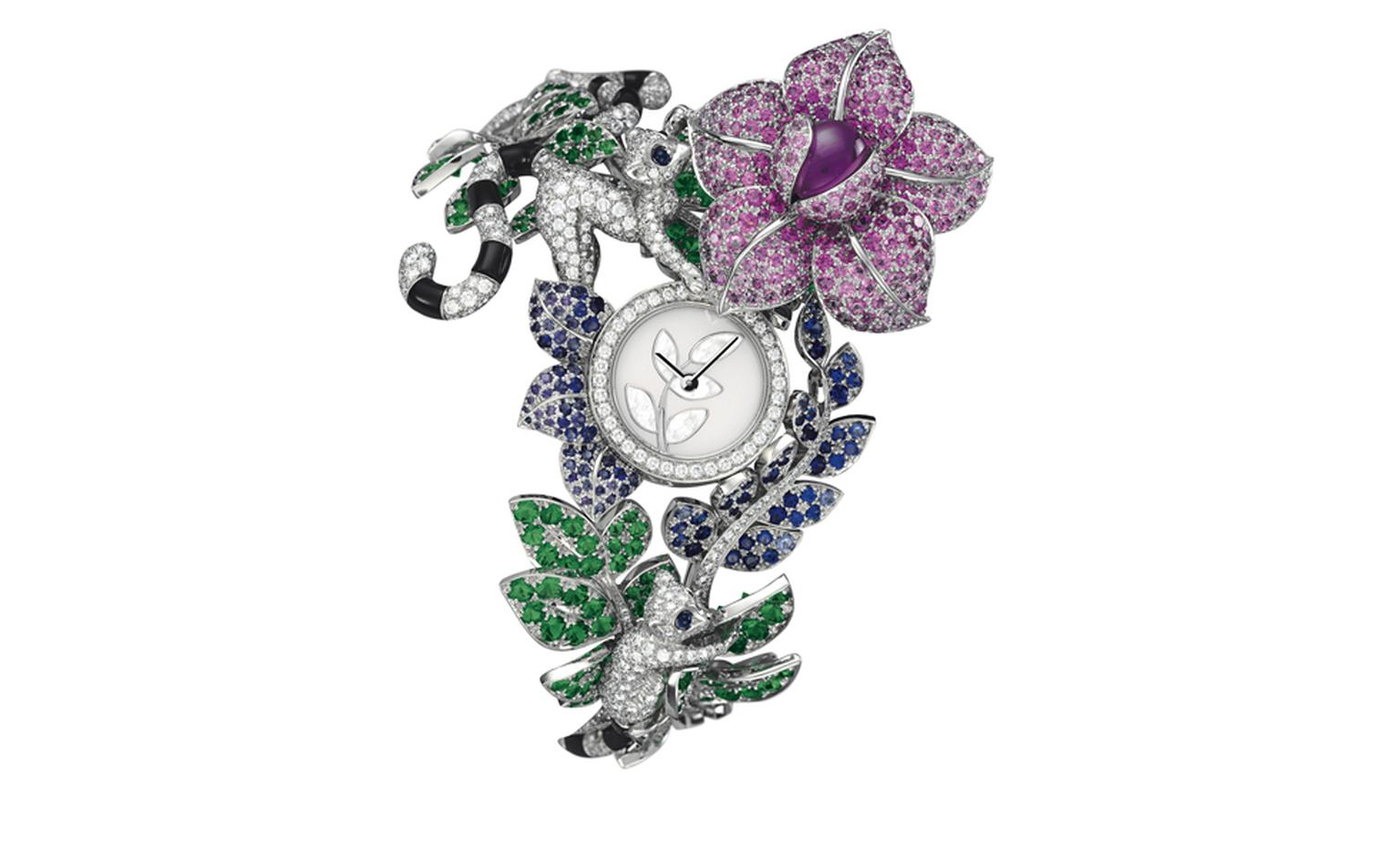 Van Cleef & Arpels Les Voyages Extraordinaires High Jewellery Timepieces Decor Makis, open
