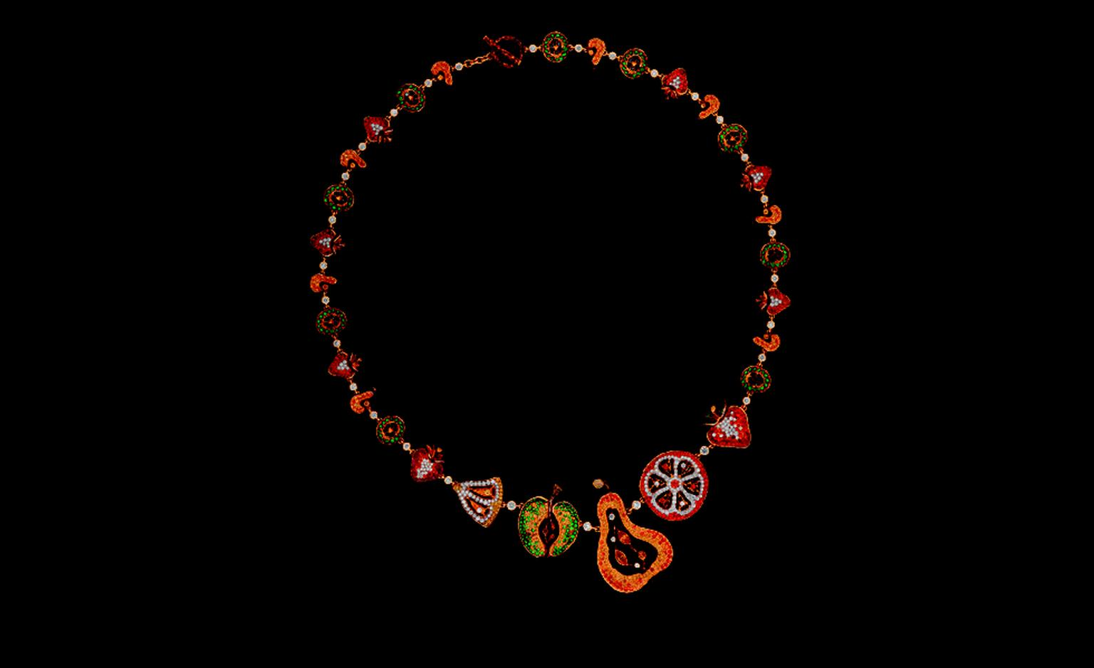 Russian Jewellery Theatre Caravaggio collection, necklace
