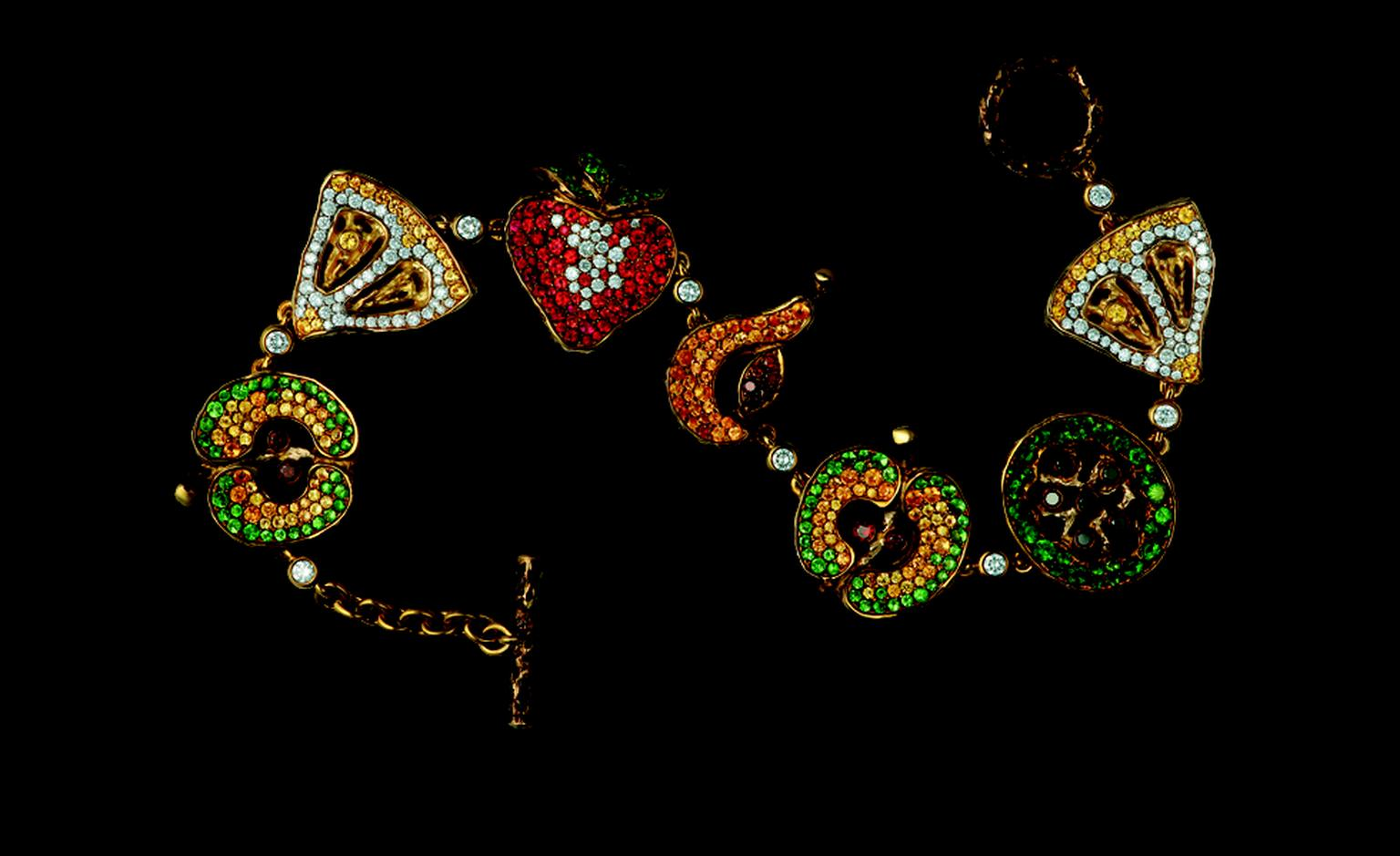Russian Jewellery Theatre Caravaggio collection, charm bracelet