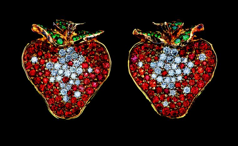 Russian Jewellery Theatre Caravaggio collection, strawberry earrings
