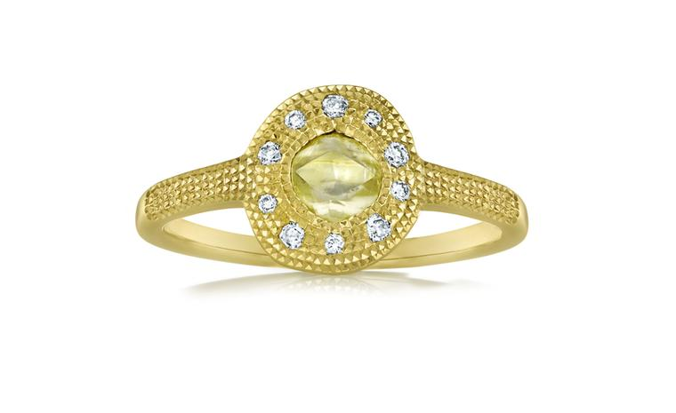 De Beers Talisman Aurora Solitaire Ring in yellow gold. £1,575