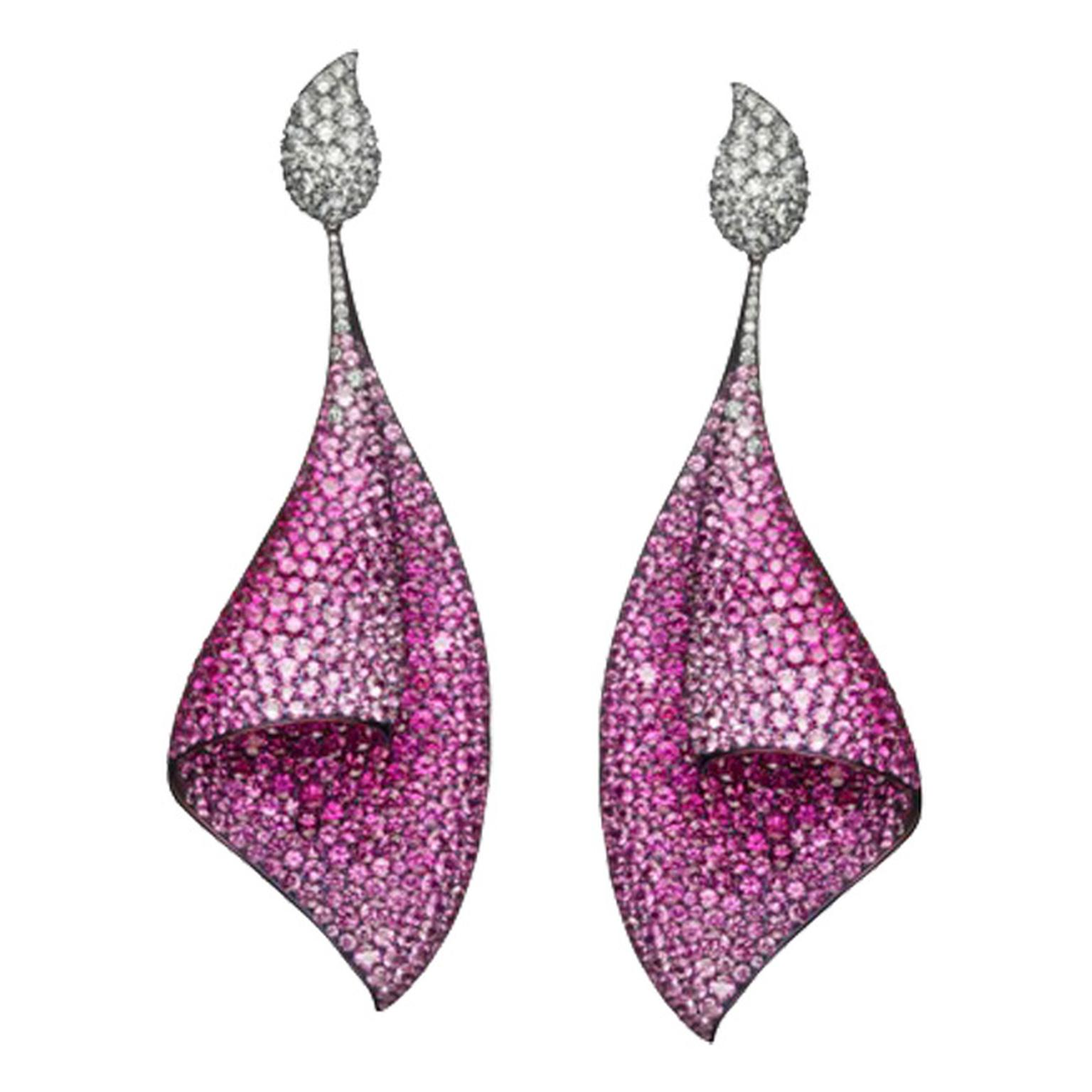Adler -titanium -and -pink -sapphire -Sail -earrings -ZOOM
