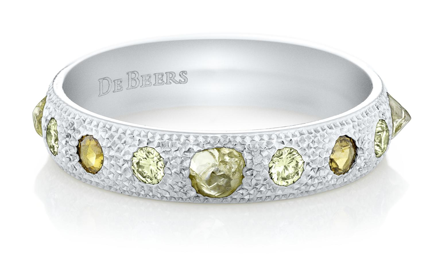 De Beers Talisman half band in White gold. £2,200