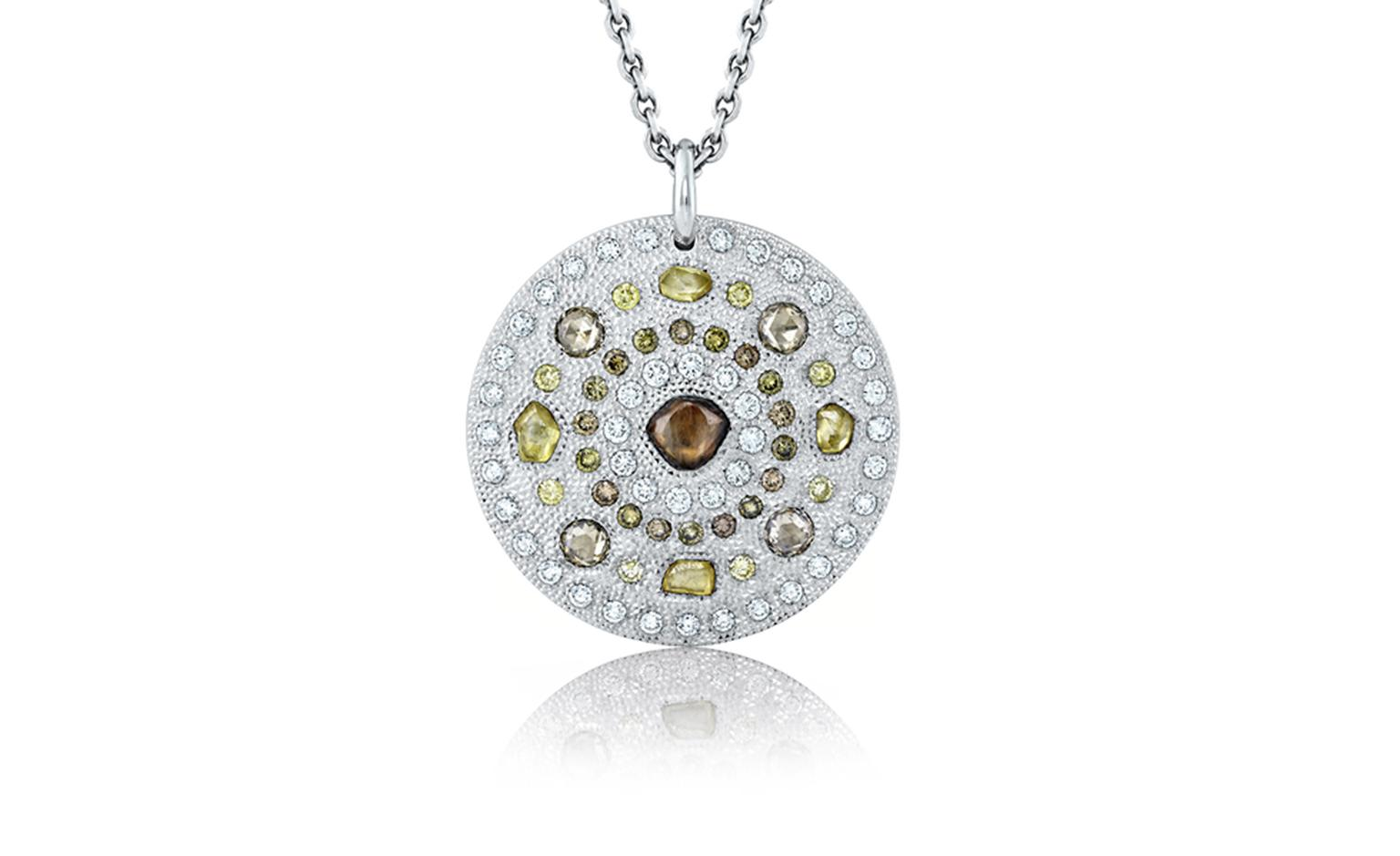 De Beers Talisman Medallion in white gold. £7,050