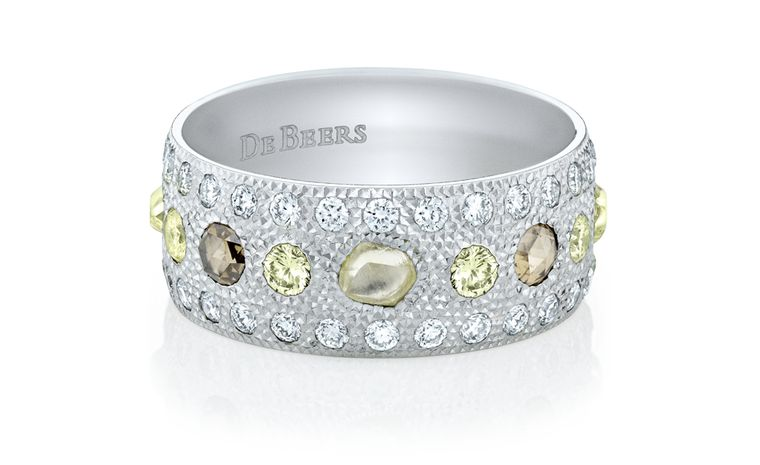 De Beers Talisman band in white gold. £6,900