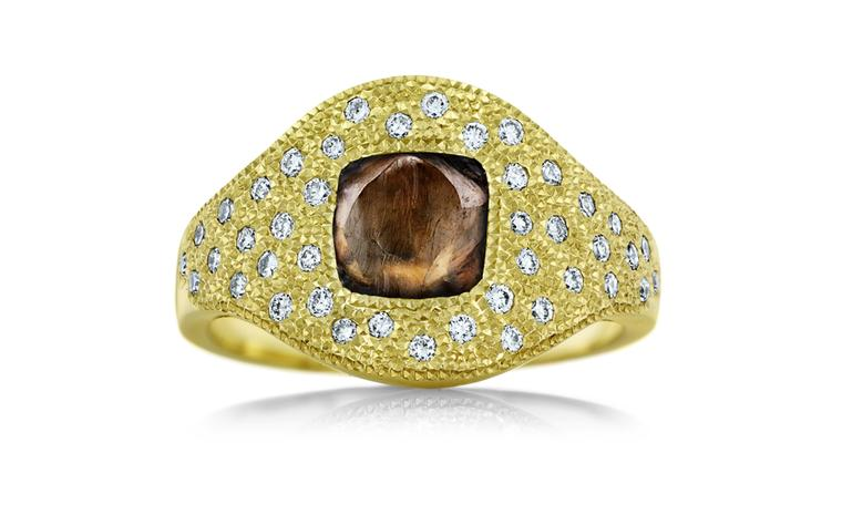De Beers Talisman Aurora ring in yellow gold. £3,525