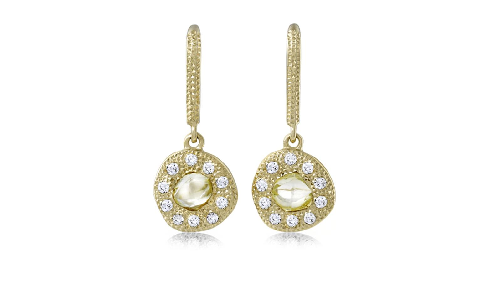 De Beers Talisman Solitaire Earrings in yellow gold. £2,475