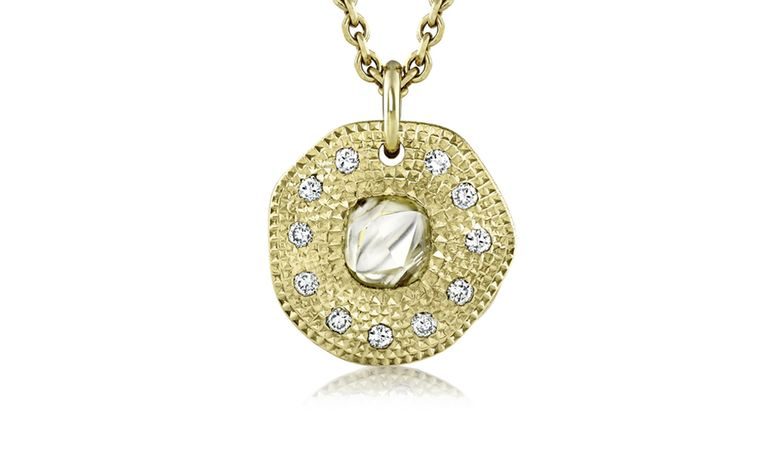 De Beers Talisman Solitaire Pendant in yellow gold. £1,800