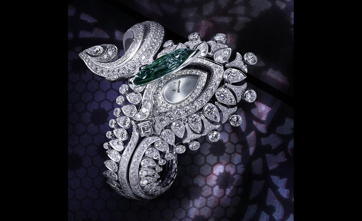 Cartier High Jewellery Bracelet watch from the Mille et Une huere collection launched at the SIHH January 2011