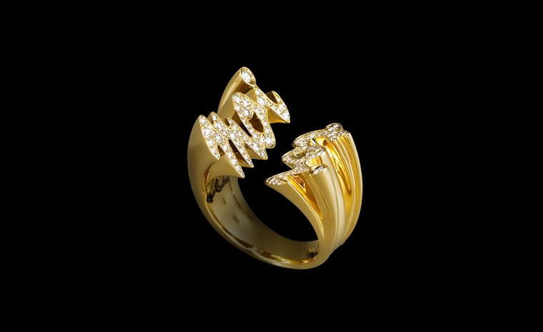 Lorenz Bäumer, Toi et Moi ring diamonds in yellow gold. €4,450
