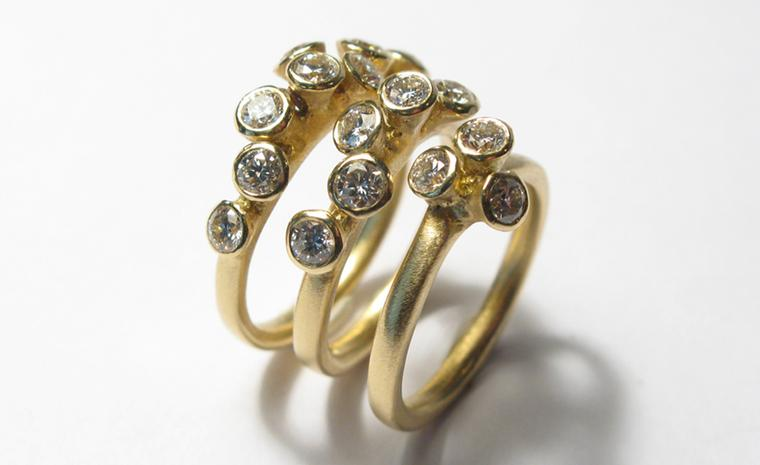 Diana Porter, diamond rings