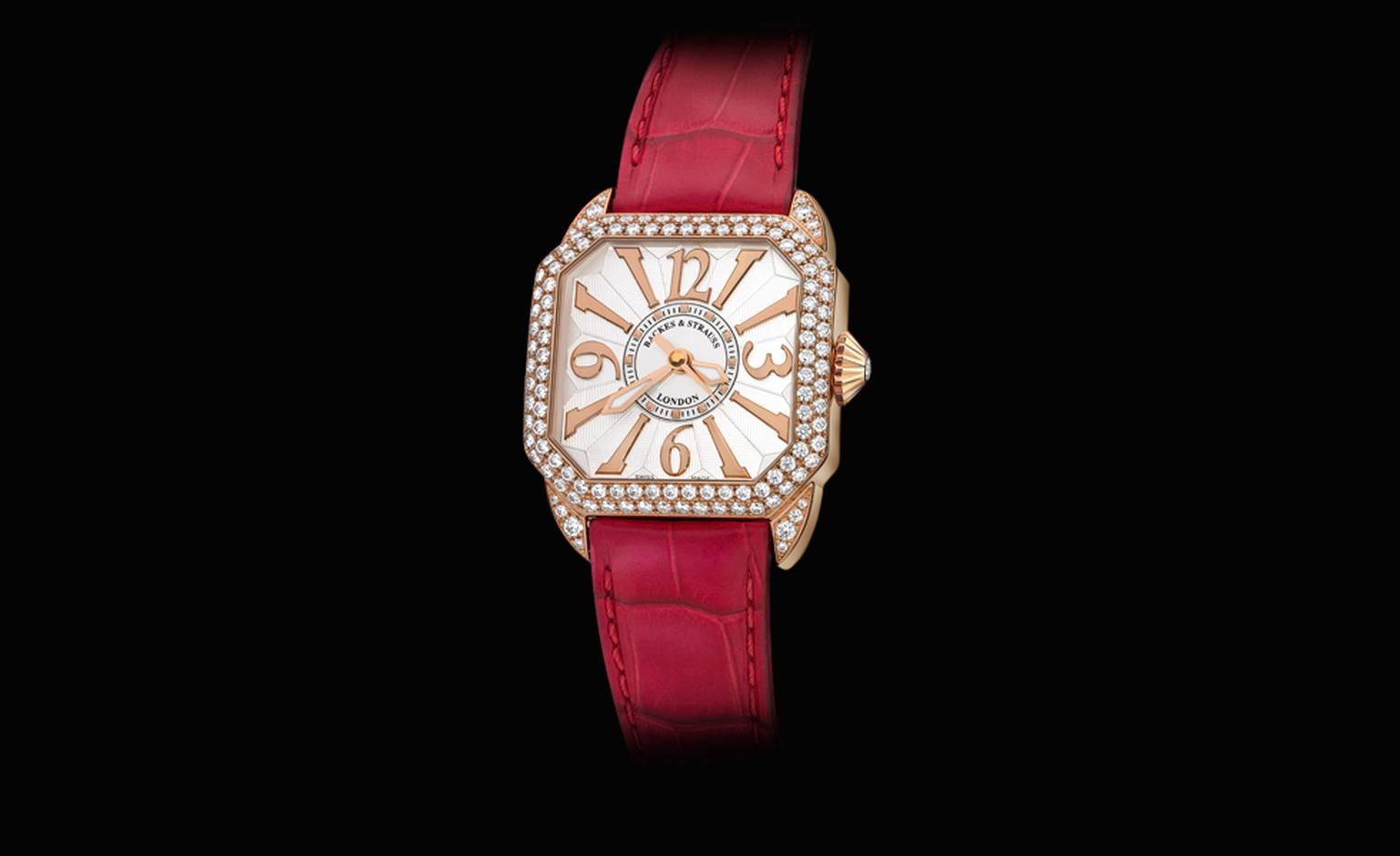 Backes & Strauss Berkeley in rose gold has 125 diamonds (5.12 carats). Price: £39,005