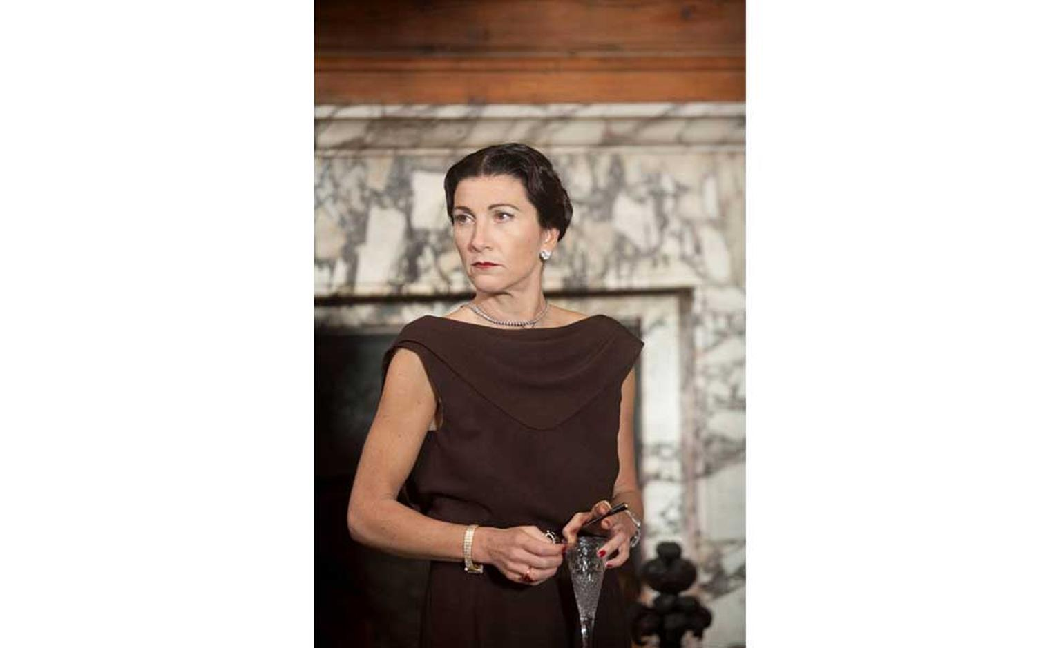Eve Best as the Duchess of Windsor in The King's Speech film wearing Van Cleef & Arpels by Speaking Film Productions Ltd 2011