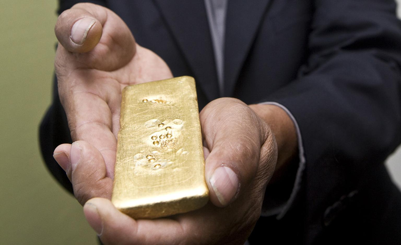 The first ingot of Fairtrade gold