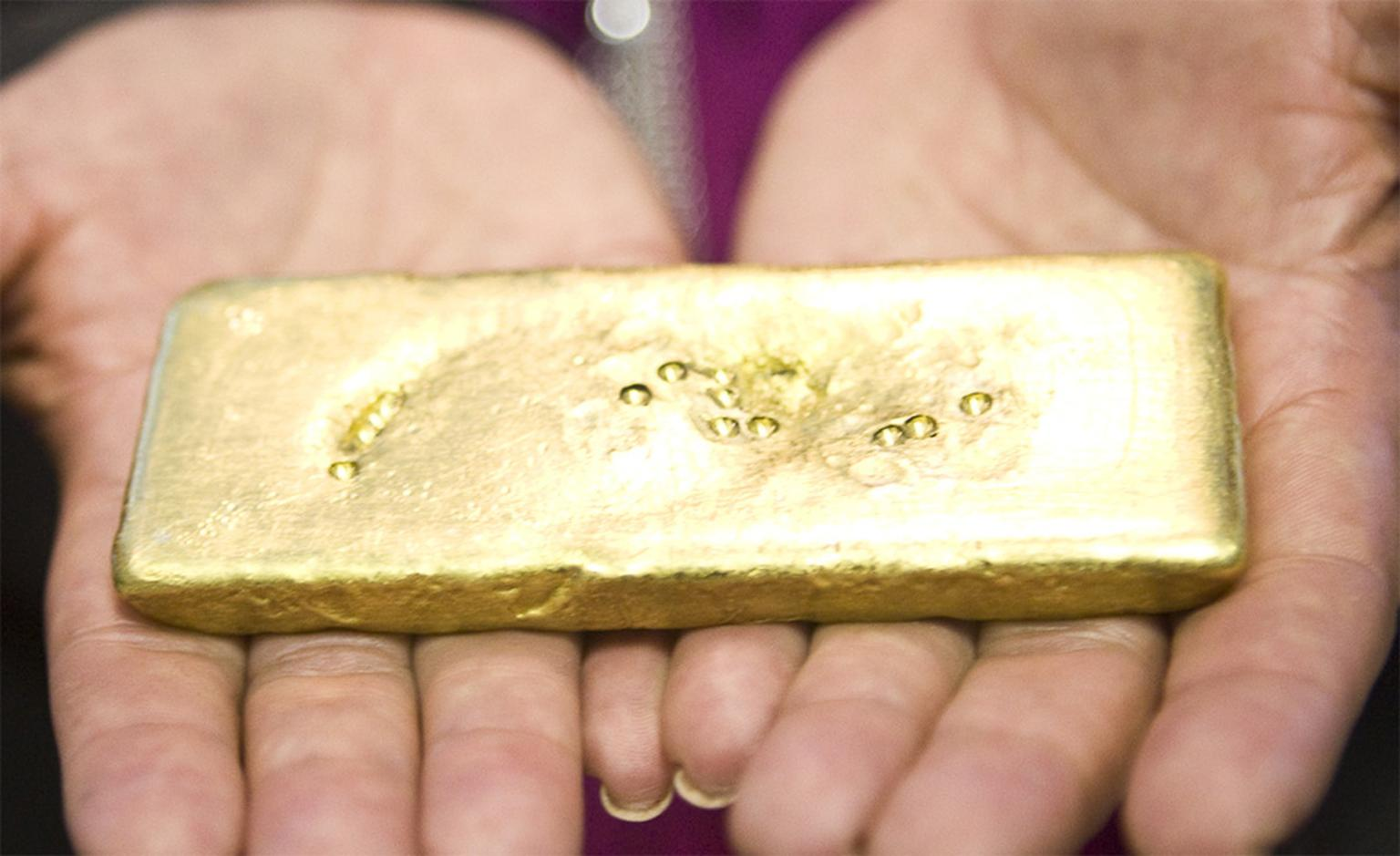 The world's first ingot of Fairtrade gold arrives in London on Valentine's Day 2011