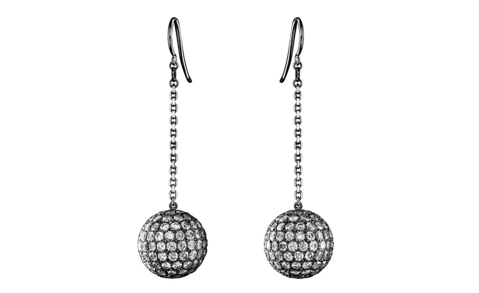 Solange Azagury-Partridge Mirror Ball earrings as worn by Helena Bonham Carter at BAFTAs 2011