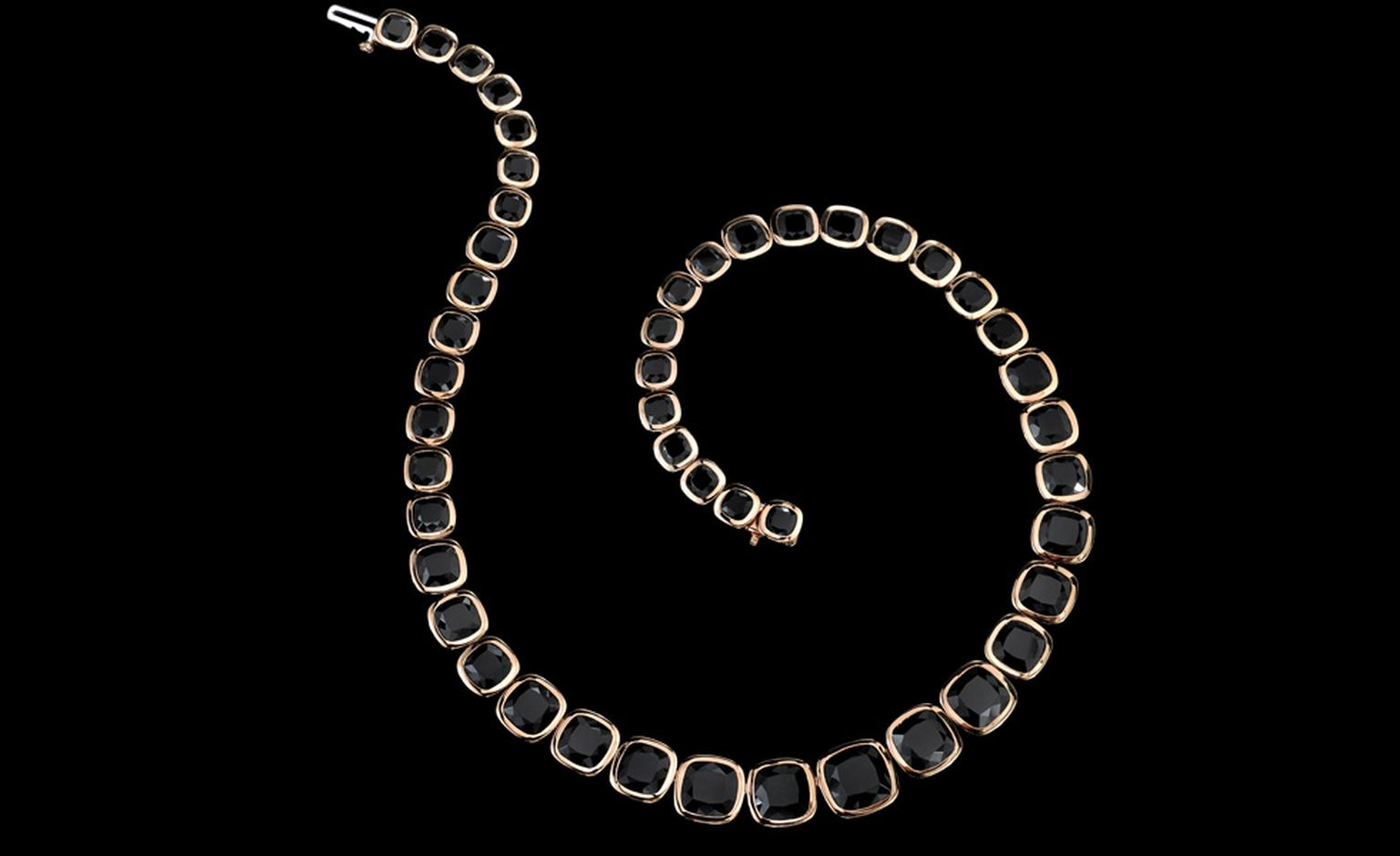 Black spinel necklace as worn by Angelina Jolie at the  premiere of the film Salt. The necklace is to be auctioned at City Rocks on February 22 with proceeds donated to The Lord Mayor's Appeal.