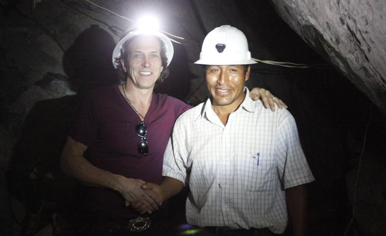 Stephen Webster & President of Aurelsa mine in Peru