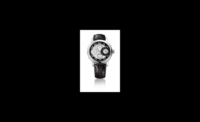 Chopard L.U.C. Regulateur white gold watch worn by Javier Bardem at the Oscars 2011