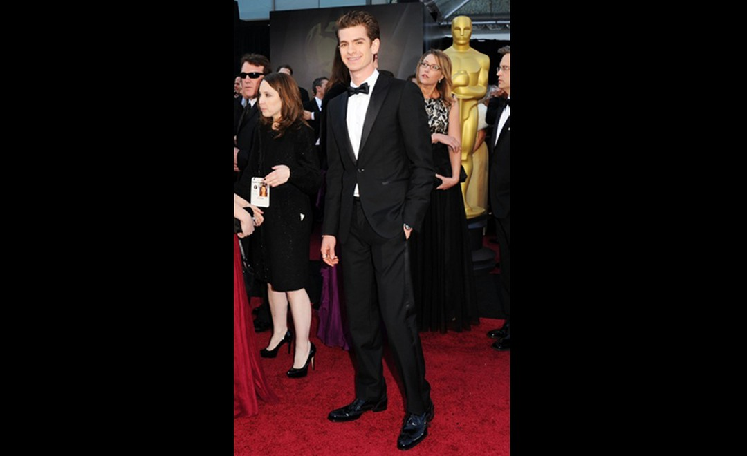 Andrew Garfield from The Social Network wears a Harry Winston Premier Excenter Dual Timezone watch
