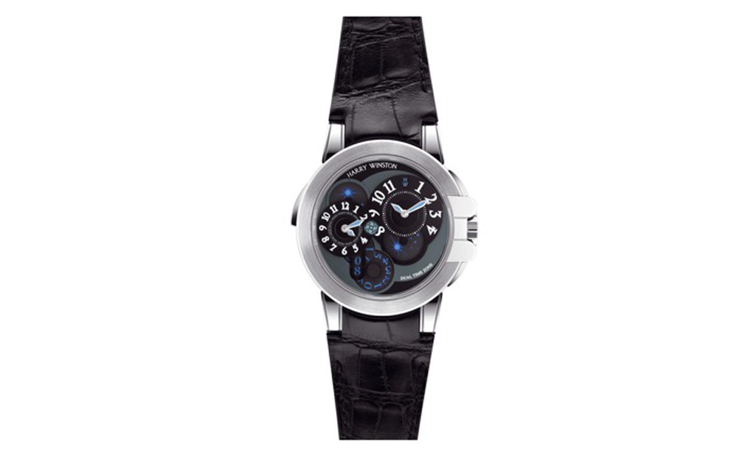 Harry Winston Ocean Dual Time watch worn by Christian Bale