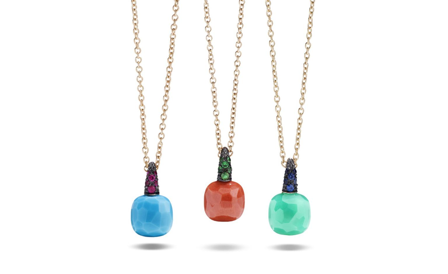 POMELLATO, Capri pendant Rose gold, turquoise and rubies, coral and tsavorites, chrysoprase and blue sapphires. Chain and pendant, starting from £1,340