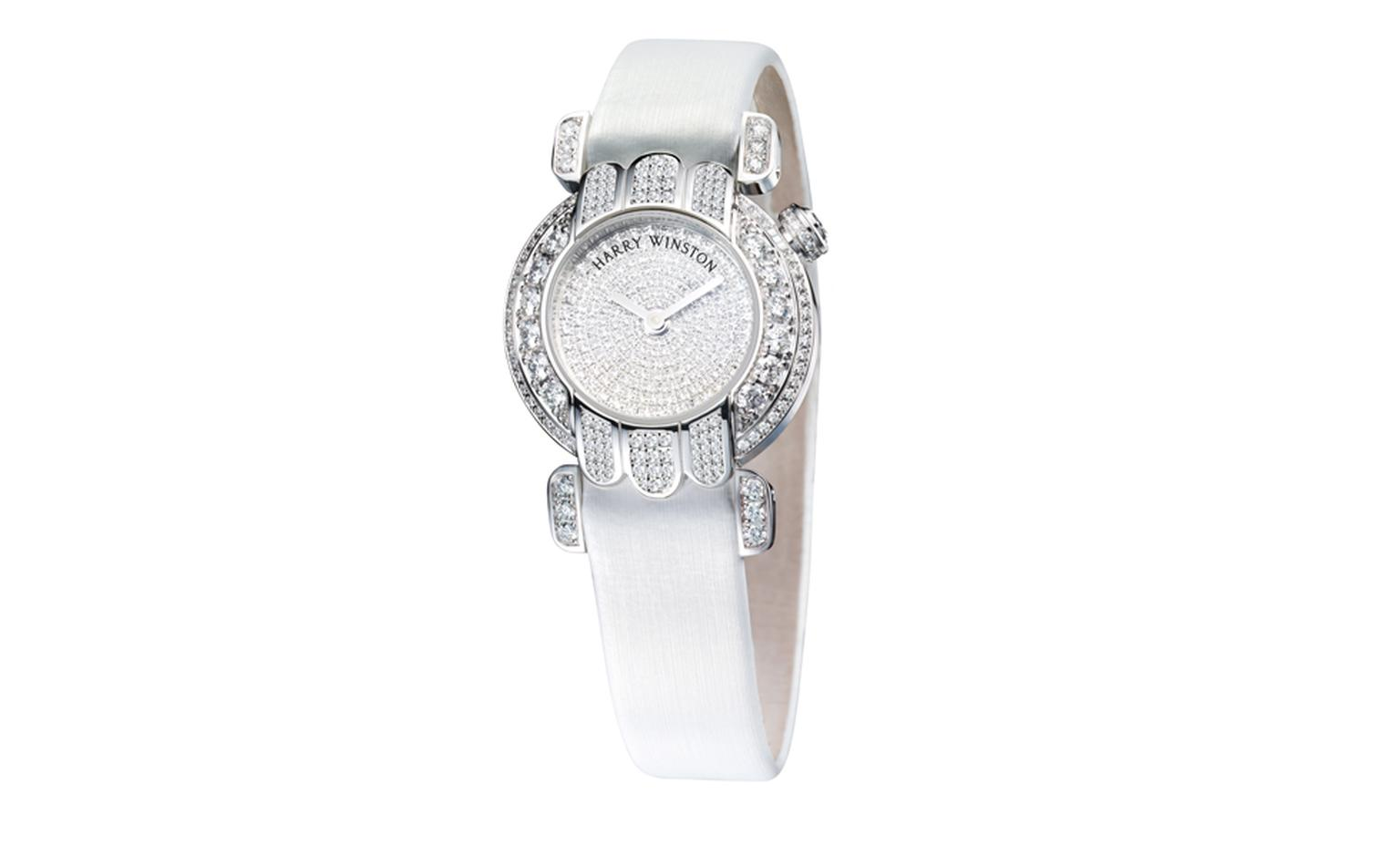 HARRY WINSTON, Premier Bijou, white gold dial set with diamonds.
